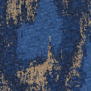 Blue and gold contemporary rug pattern for office